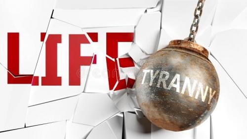 la-tyrannie-et-vie-représenté-comme-un-mot-de-une-boule-en-épave-pour-symboliser-que-peut-avoir-mauvais-effet-détruire-d-165042109.jpg