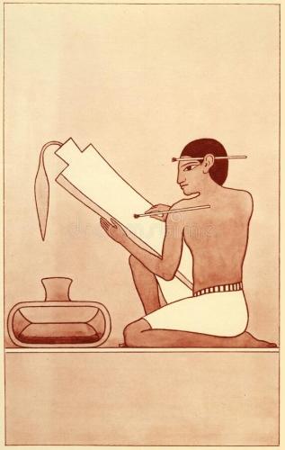 illustration-de-scribe-égyptien-antique-d-un-égypte-ancienne-écrivant-sur-le-papyrus-avec-stylo-tubulaire-une-série-affiches-185074351.jpg