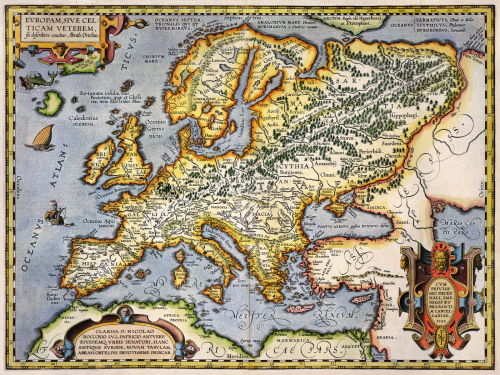 Antique Map of Europe circa 1595 the long goodbye.png