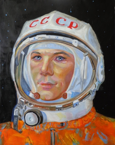 Alisa Kazakova, Y. Gagarin 1, huile sur toile, 92x73 cm, 2019.JPG