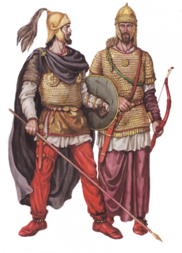 Sarmatian warriors (reconstruction).jpg