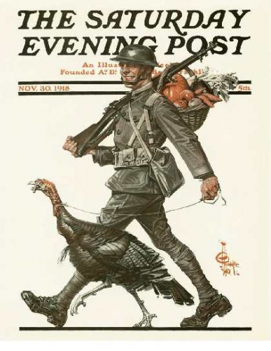 m-1918-11-30 Soldier leading Turkey - J C Leyendecker.jpg