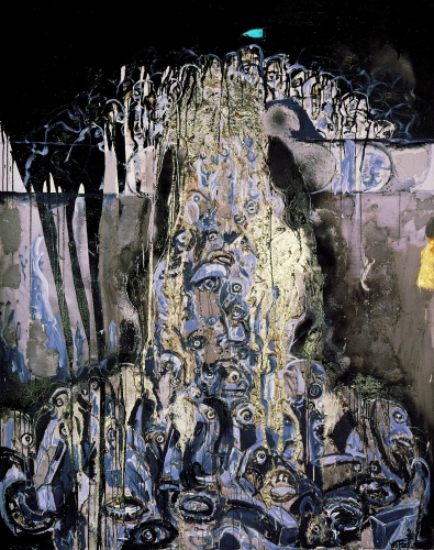 Wolf Vostell, Der Fall der Berliner Mauer, Nr.6, 1990.jpg