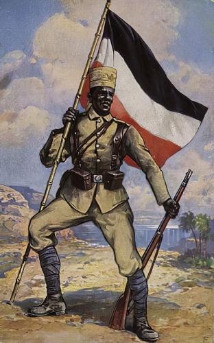 German_School_-_Askari_First_World_War_colonial_soldier_from_German_East_Africa_-_(MeisterDrucke-658290).jpg