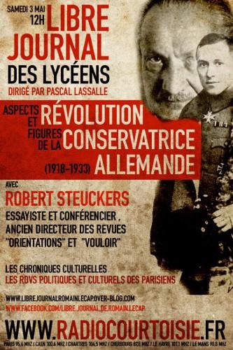 robert steuckers,radio courtoisie,révolution conservatrice,livre,nouvelle droite,synergies européennes,allemagne,histoire